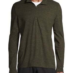 Russell Athletic 1/4 Zip Pullover in Green